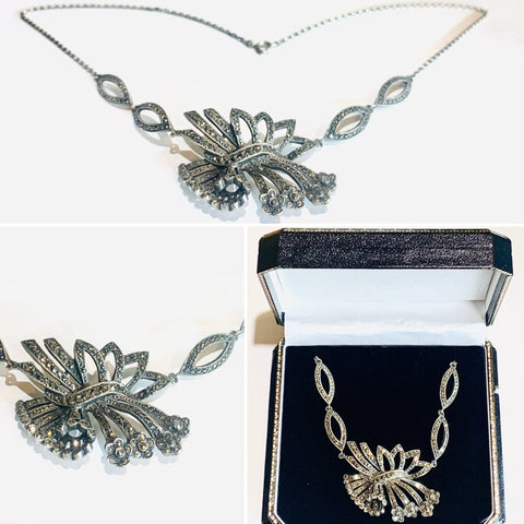 Vintage Silver & Marcasite Necklace