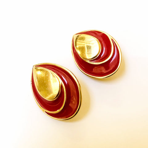 Vintage Monet Clip on Earrings