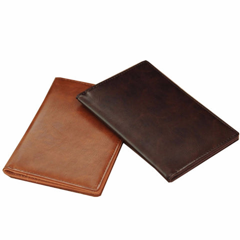 Minimalistic and Elegant Leather Passport and Business Card Holder