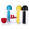 Image of Water Bottle with Detachable Pill Organizer