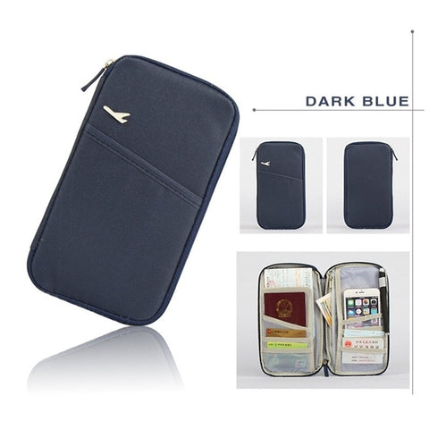 Stylish Passport Holder and Multifunction Travel Organizer