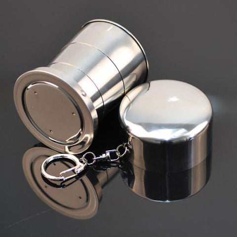 Stainless Steel Super Portable Foldable Travel Cup / Mug