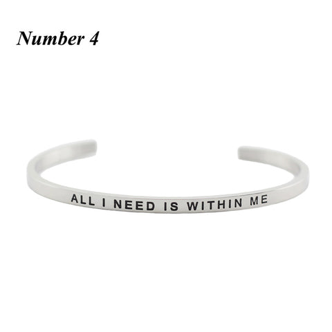 Inspirational Bracelets With Love Quotes ❤️