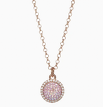 Hillberg & Berk Sparkle Ball Halo Necklace Blush