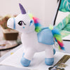Aeruiy Unicorn Angel Wings Colorful Horse-30CM