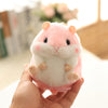 Aeruiy Plush Pink Hamster Keychain Toy Stuffed Animal