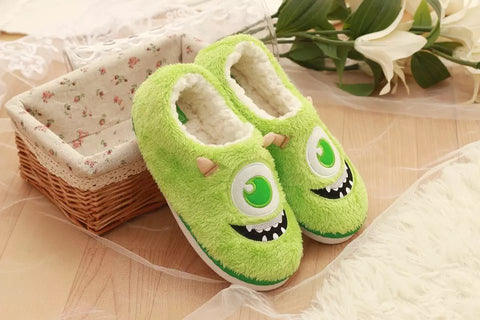 Aeruiy Womens Cozy Plush Cartoon Monsters Home Indoor Slippers