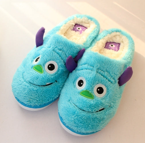 Aeruiy Womens Cozy Cartoon Monsters Home Indoor Slippers