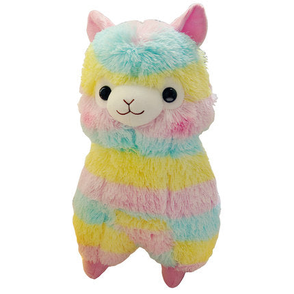 "Aeruiy Cute Rainbow Alpaca Doll Soft Baby Stuffed Animal Toy 14"" / 20"""