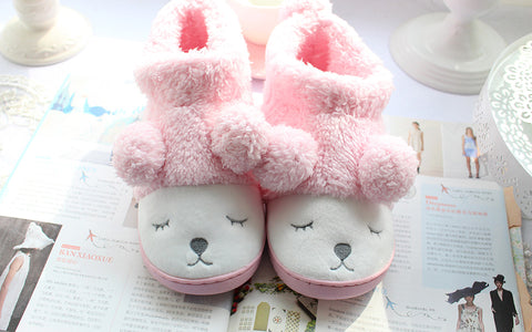 Aeruiy Cozy Sheep Women Men Home Short Boots