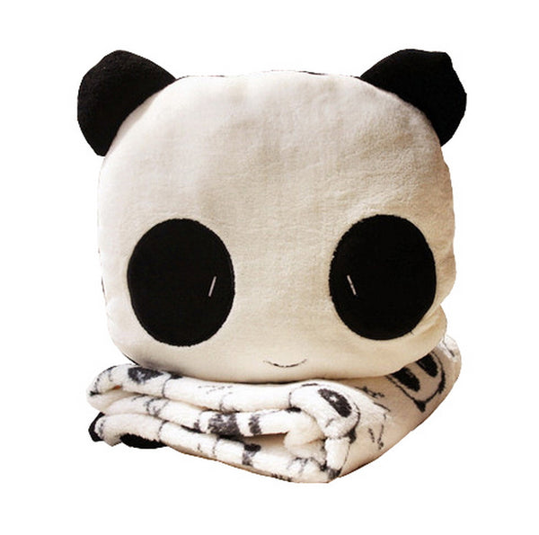 Aeruiy Plush Animal Panda Pillow Blanket 2 in 1 Home Gift