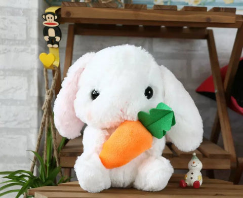 Aeruiy cute soft plush kawaii long ears bunny rabbit bamboo charcoal package toy doll