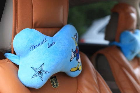 Aeruiy Donald Duck Head Neck Rest Pillow (2pcs)