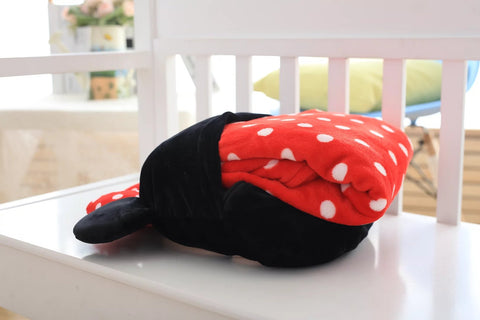 Aeruiy Mickey Minnie Head Pillow/ Throw Pillow/ Pillow Blanket 2 in 1