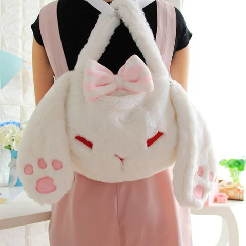 Aeruiy Women's Plush Bunny Fashion Bag