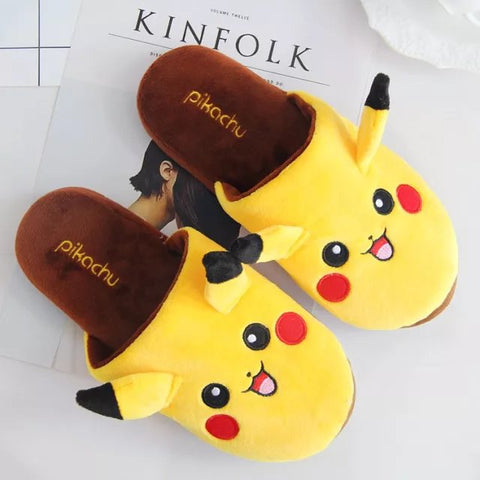 Aeruiy Pikachu Adults Plush Home Indoor Slippers