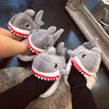 Aeruiy Big Shark Mouth Slippers Furry Fun Costume Play Wear