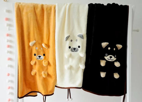 Aeruiy Shiba Dog Flannel Throw Blanket