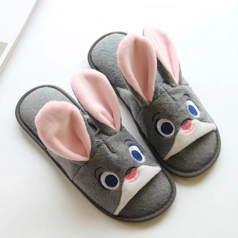 Aeruiy cute cartoon anime Zootopia characters Rabbit Judy / Fox Nick home indoor floor slippers