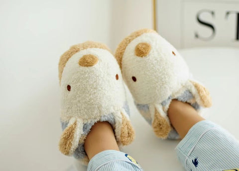 Aeruiy Womens Plush Cozy Rabbit Home Indoor Floor Slippers