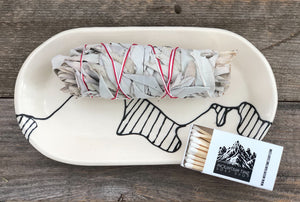 ROCKY MOUNTAIN SMUDGING TRAY
