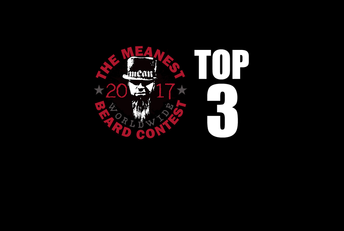 The TOP 3 MEANest BEARDS in the world for 2017. The 2017 MEANest BEARD Worldwide Contest. 126 contestants from 23 countries.  Best beards with a MEAN attitude.  MEAN BEARD Co.