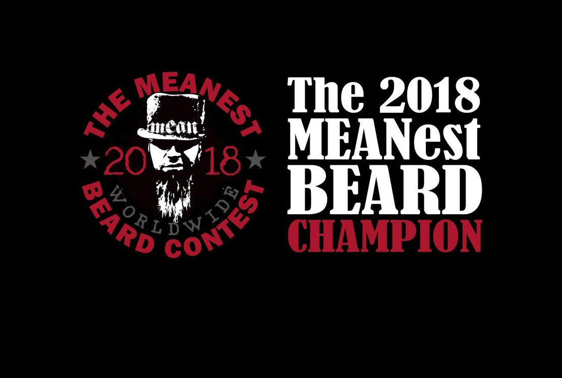 The 2018 MEANest BEARD Champion - Gerry Spiller, Grantham, NH, USA. The 2018 MEANest BEARD Worldwide Contest. Best beard with a MEAN attitude. MEAN BEARD Co.