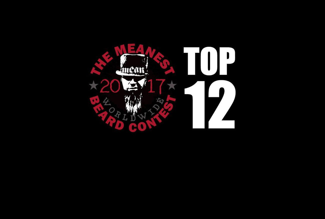 The TOP 12 MEANest BEARDS in the world for 2017. The 2017 MEANest BEARD Worldwide Contest. 126 contestants from 23 countries.  Best beards with a MEAN attitude.  MEAN BEARD Co.