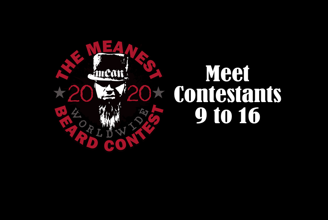 Contestants 9 to 16 - The MEANest BEARD Worldwide Contest