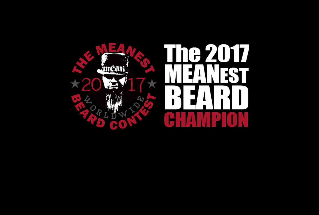 The 2017 MEANest BEARD Champion - Jamie Murphy, Wapato, WA USA. The 2017 MEANest BEARD Worldwide Contest. Best beard with a MEAN attitude. MEAN BEARD Co.