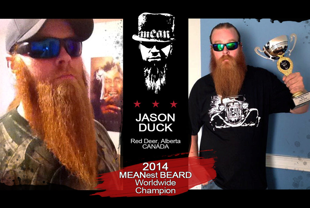 Jason Duck 2014 MEANest BEARD Worldwide Champion awarded title by MEAN BEARD