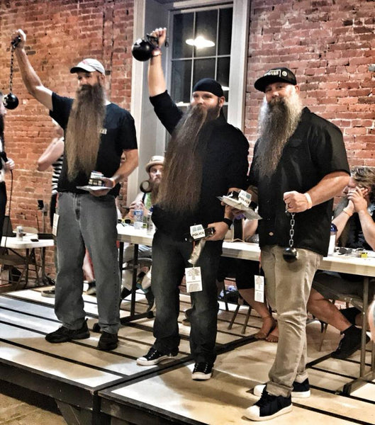 MEAN BEARD Co. MEAN TEAM  Joe Loving, Lance Wooton.  Beards Behind Bars beard competion at the Ohio State Reformatory.
