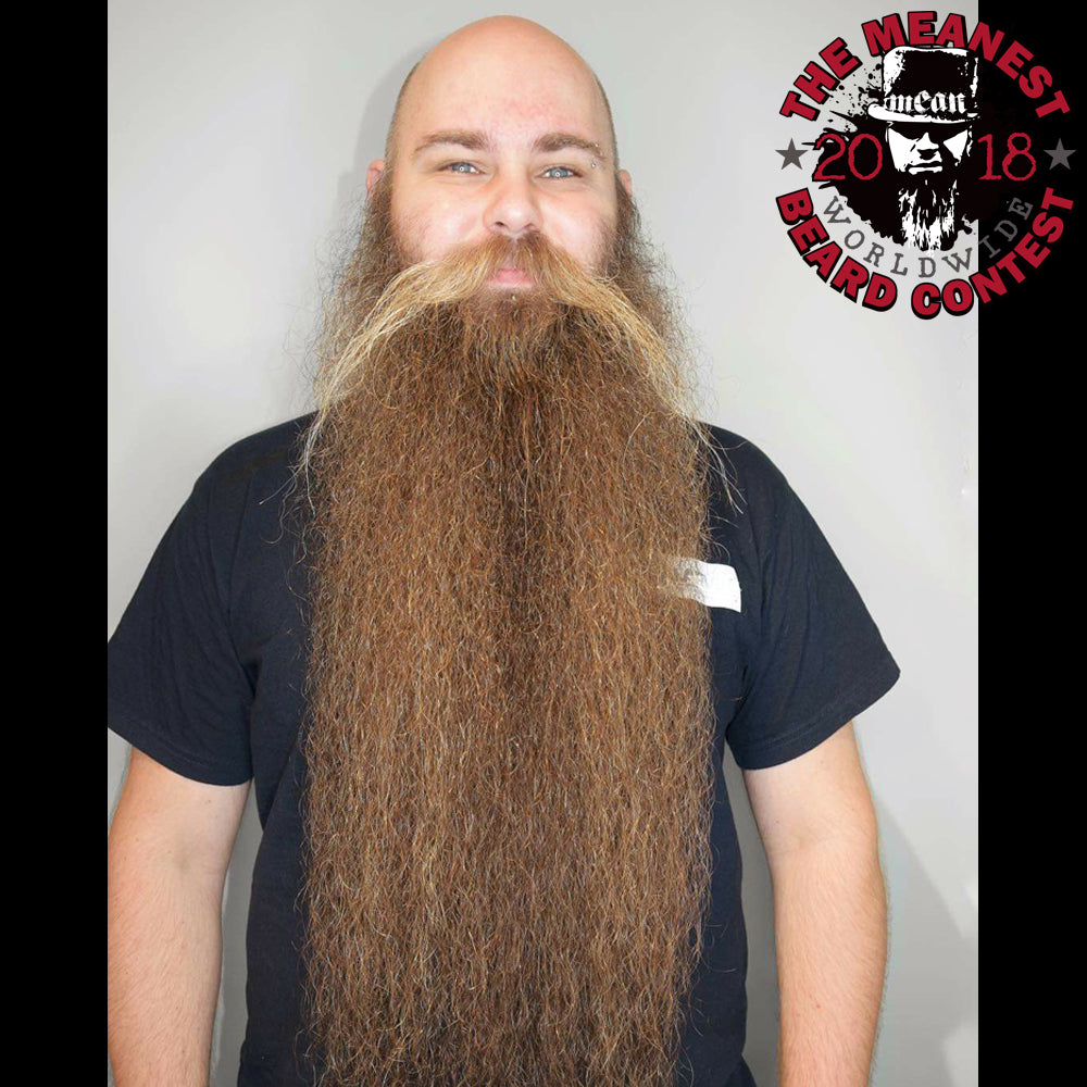 Jonas Bergkvist - The TOP 12 MEANest BEARDS in the world for 2018. The 2018 MEANest BEARD Worldwide Contest. 141 contestants from 19 countries.  Best beards with a MEAN attitude.  MEAN BEARD Co.