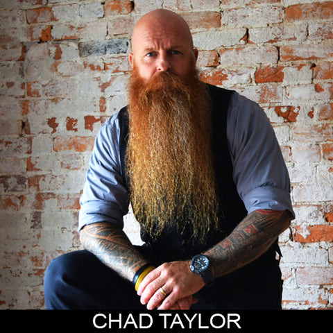 Chad Taylor, sponsored ambassador MEAN BEARD Co. Stand with Purpose. Grow a MEAN BEARD. An exceptional beard care line offering the World's MEANest Beard Oil, Beard Balm and one of a kind Beard Enhancer MEAN WHIP. Join the MEAN BEARD Community and Ambassador Program.  Follow us on Instagram. Use #MEANBEARD to be featured.