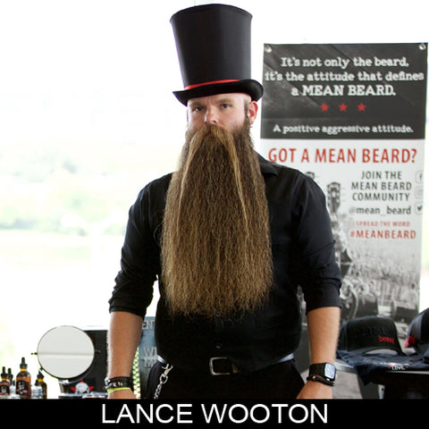 Lance Wooton, beard champion & sponsored ambassador MEAN BEARD Co. Stand with Purpose. Grow a MEAN BEARD. An exceptional beard care line offering the World's MEANest Beard Oil, Beard Balm and one of a kind Beard Enhancer MEAN WHIP. Join the MEAN BEARD Community and Ambassador Program.  Follow us on Instagram. Use #MEANBEARD to be featured.
