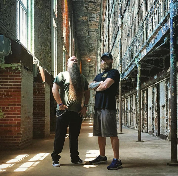 MEAN BEARD Co. MEAN TEAM Lance Wooton and Jeremy Sharp.  Beards Behind Bars beard competion at the Ohio State Reformatory.