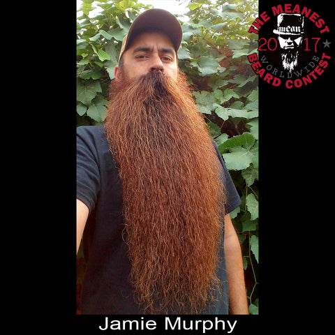 Jamie Murphy - The TOP 3 MEANest BEARDS in the world for 2017. The 2017 MEANest BEARD Worldwide Contest. 126 contestants from 23 countries.  Best beards with a MEAN attitude.