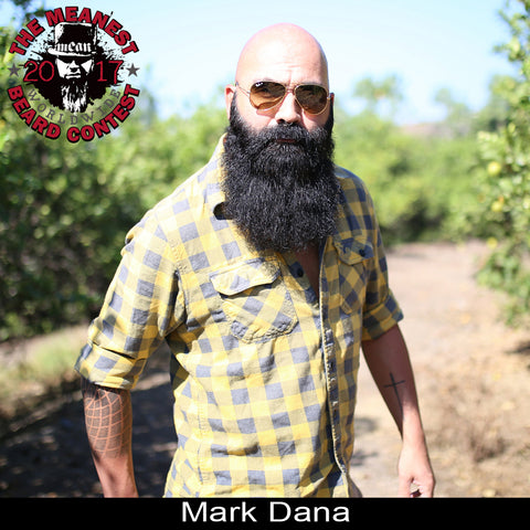Mark Dana - The TOP 3 MEANest BEARDS in the world for 2017. The 2017 MEANest BEARD Worldwide Contest. 126 contestants from 23 countries.  Best beards with a MEAN attitude.