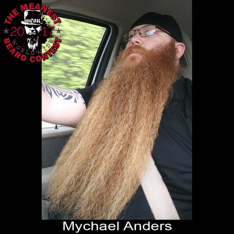 Mychael Anders - The TOP 3 MEANest BEARDS in the world for 2017. The 2017 MEANest BEARD Worldwide Contest. 126 contestants from 23 countries.  Best beards with a MEAN attitude.