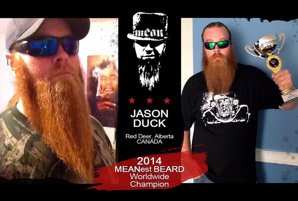 2014 MEANest BEARD Worldwide Contest Champion Jason Duck, Red Deer, AB Canada - MEAN BEARD Co.