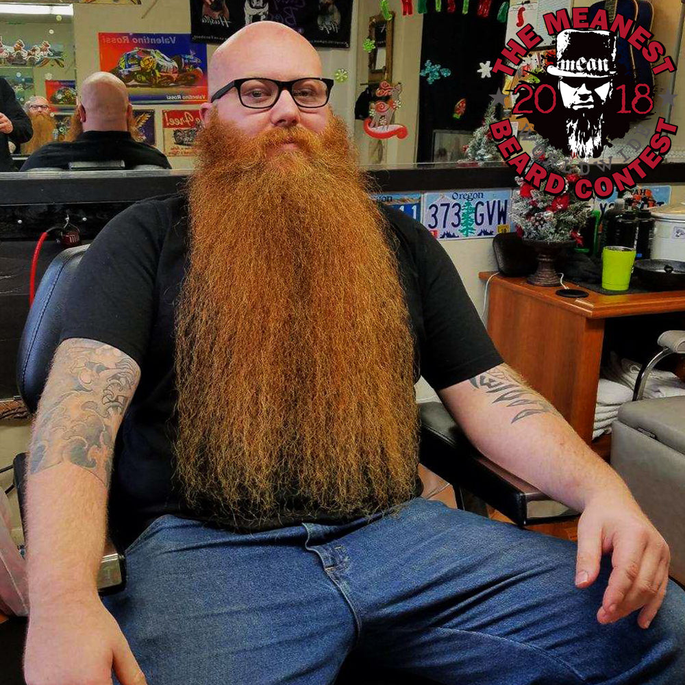 Mychael Anders - The TOP 12 MEANest BEARDS in the world for 2018. The 2018 MEANest BEARD Worldwide Contest. 141 contestants from 19 countries.  Best beards with a MEAN attitude.  MEAN BEARD Co.