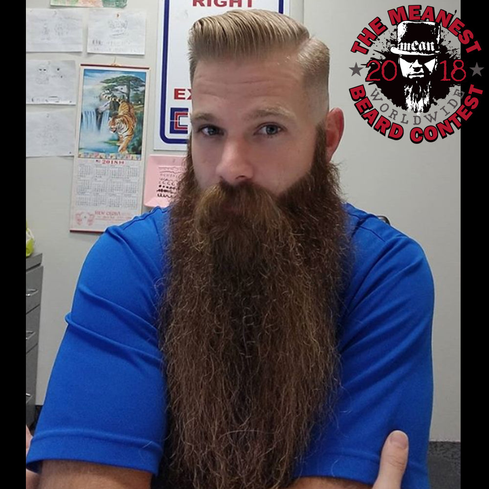 Robert Michaelis - The TOP 12 MEANest BEARDS in the world for 2018. The 2018 MEANest BEARD Worldwide Contest. 141 contestants from 19 countries.  Best beards with a MEAN attitude.  MEAN BEARD Co.