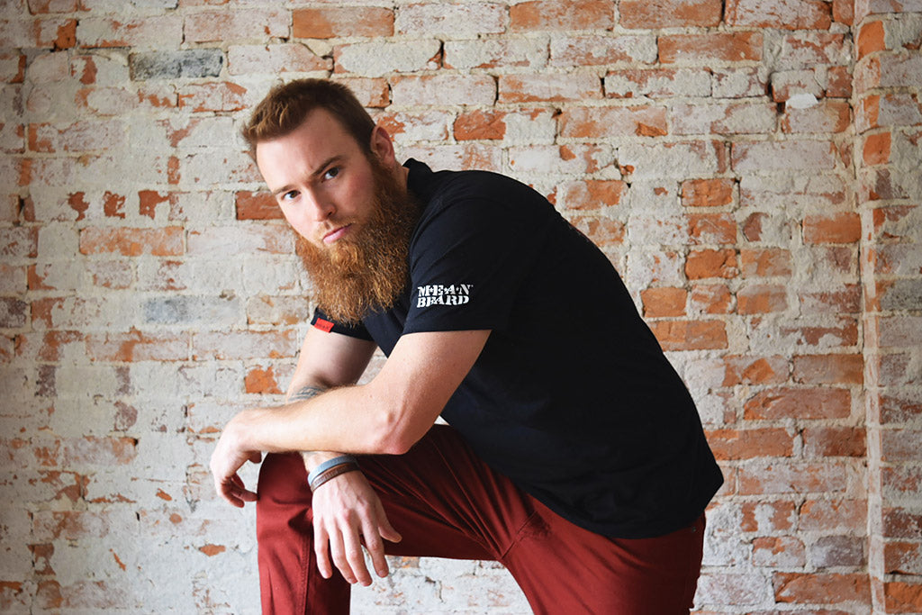 Jeremy Sharp, MEAN BEARD Ambassador.  The MEAN TEAM.  Beard Competitor.  Cincinnatti Beard Baron.  MEAN BEARD Company.  Best beard oil.  Best beard company. Best beard products.  Made in USA.