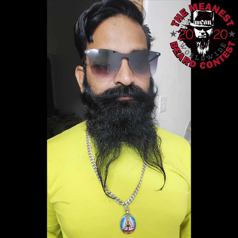 Contestants 1 to 8 in the 2020 MEANest BEARD Worldwide Contest