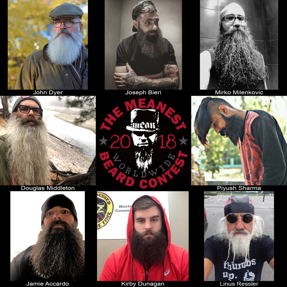 Contestants 49 to 56.  The 2018 MEANest BEARD Worldwide Contest.