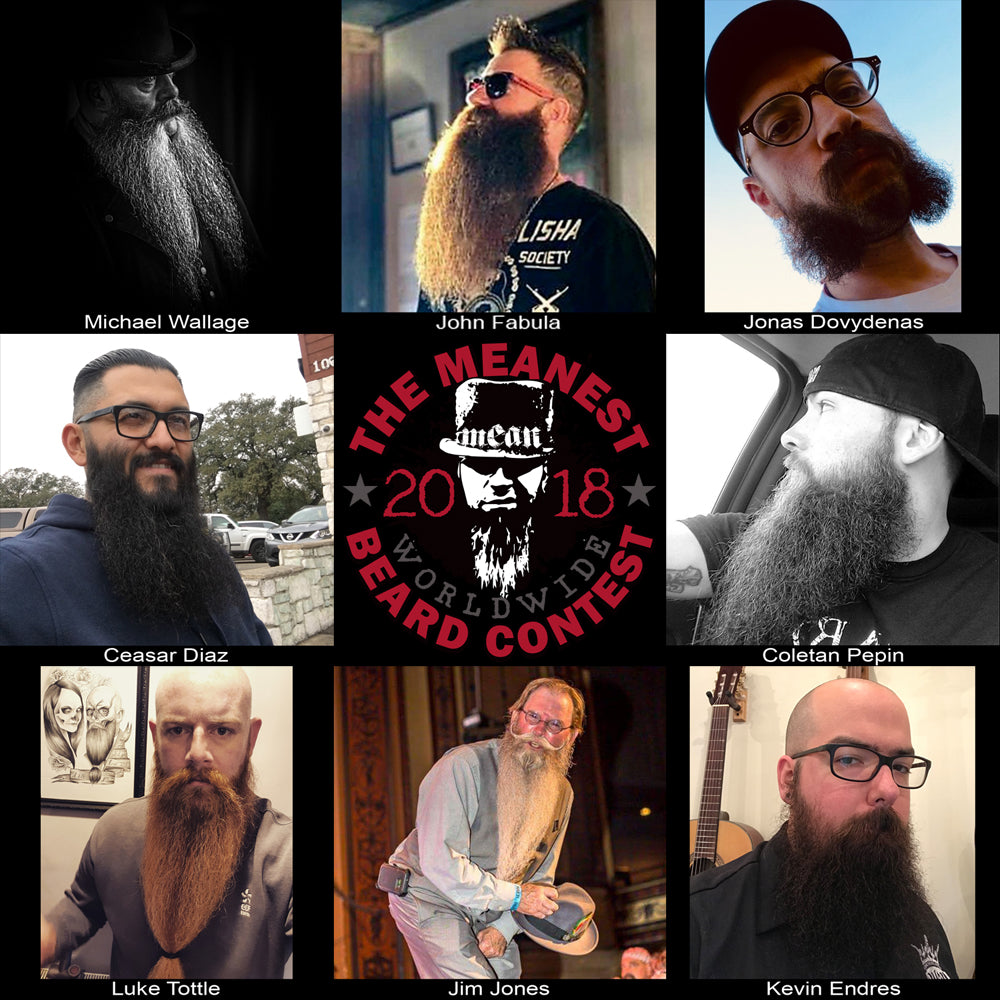 Contestants 65 to 72.  The 2018 MEANest BEARD Worldwide Contest.
