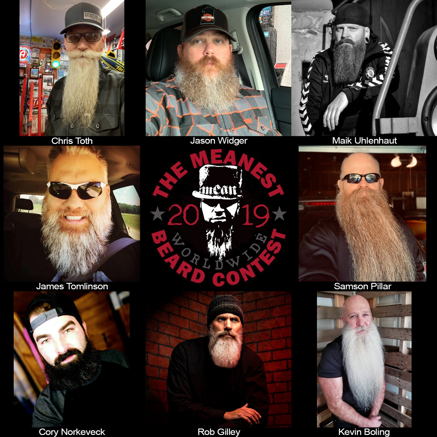 Contestants  to 57 - 64 The MEANest BEARD Worldwide Contest