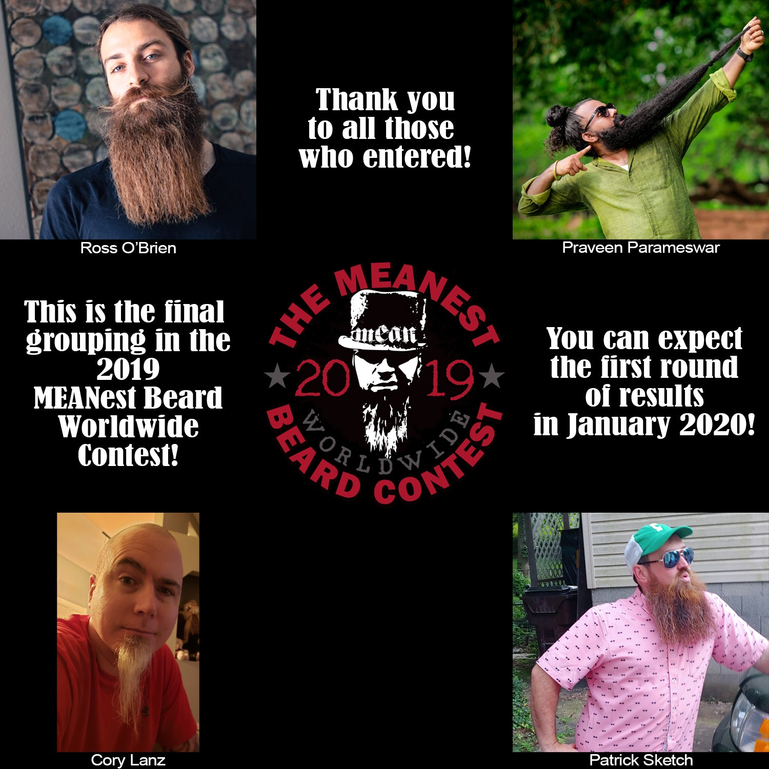 Contestants 97 to 100 - The MEANest BEARD Worldwide Contest