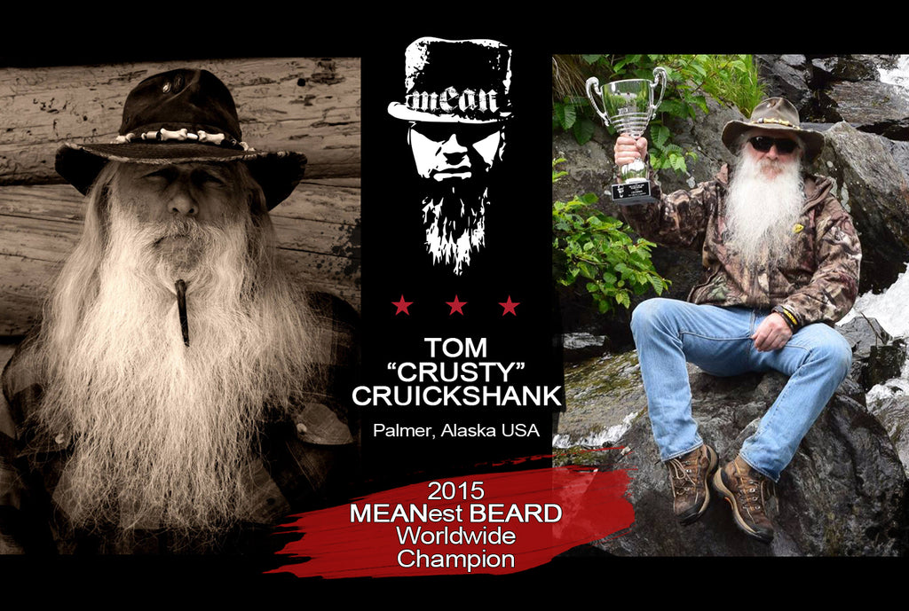 Tom Crusty Cruickshank 2015 MEANest BEARD Worldwide Champion awarded title by MEAN BEARD