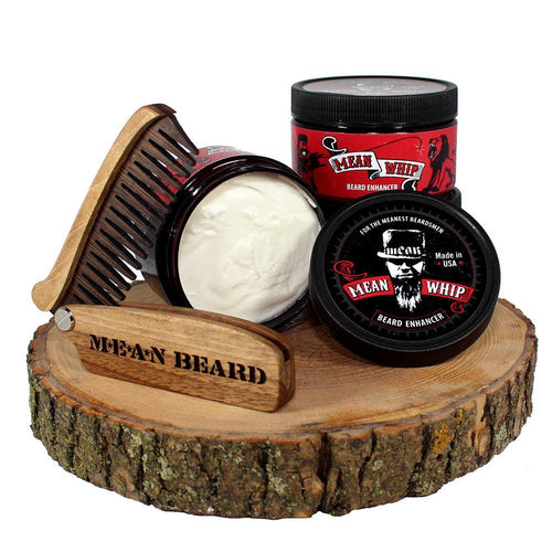 MEAN WHIP is a Beard Enhancer consisting of the best nutrient rich butters and oils, whipped into a soft light texture, providing you with a fuller, softer and healthier beard.
